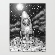 Running Away From Home In A Rocket Ship Canvas Print