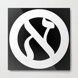 """Anarkhye iz seder"" - Jewish Anarchist Symbol Metal Print"