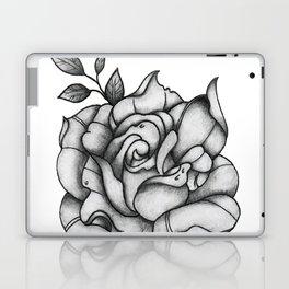 Black and Grey Rose Laptop & iPad Skin