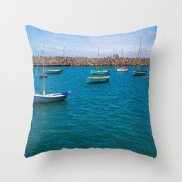 Small Boats At St Kilda Throw Pillow
