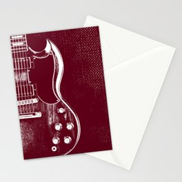 SG Guitar - Angus Y. Stationery Cards