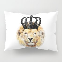 Lion with crown illustration Pillow Sham