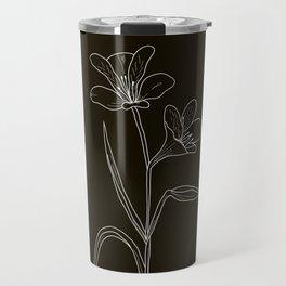 Amancay Wildflower in black Travel Mug