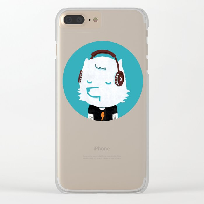 Metal Rock Dog Clear iPhone Case