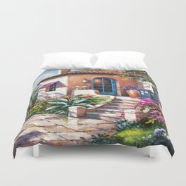 Tardis Art At The Beach House Duvet Cover