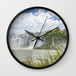 Waterfalls Landscape at Iguazu Park Wall Clock