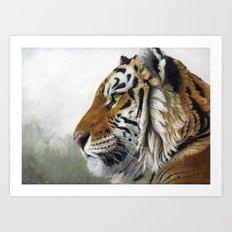Tiger profile AQ Art Print