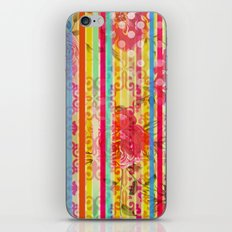 Retro Pattern Collage iPhone & iPod Skin
