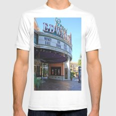 Day at the movies Mens Fitted Tee White MEDIUM