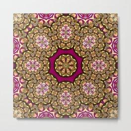 Gold Cameo (violet-fandango) Metal Print