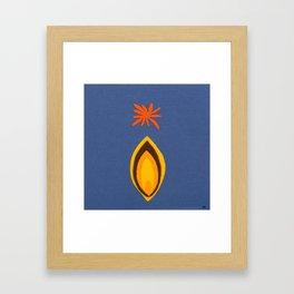 de Flower [blue] Framed Art Print