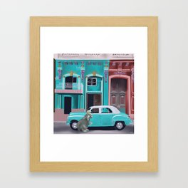 Hugo the Hutia in Havana Framed Art Print
