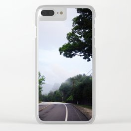 Green Mountain Road Trip Clear iPhone Case