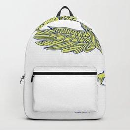 Common Raven Flying Mandala Backpack