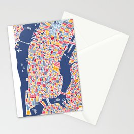 New York City Map Poster Stationery Cards