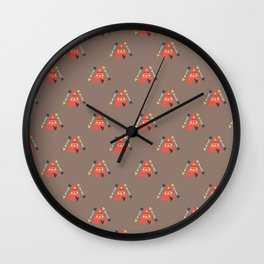 Indios- Surface Pattern Design - ByBeck Wall Clock
