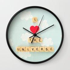 I Heart The Universe Wall Clock