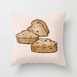 Q is for Queen Cake Throw Pillow
