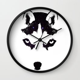 Husky Night Wall Clock