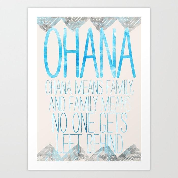 OHANA Art Print