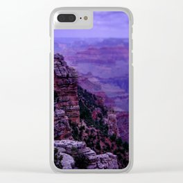 Purple Grand Canyon Clear iPhone Case