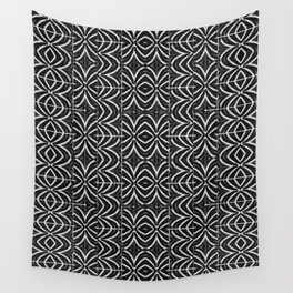 Black and White Tribal Print Wall Tapestry