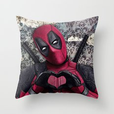 Dead pool - Sweet superhero Throw Pillow