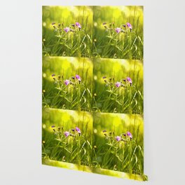 Beautiful meadow flowers - geranium on a sunny day - brilliant bright colors Wallpaper