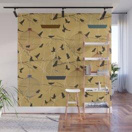 Seamless birdcage composition Wall Mural