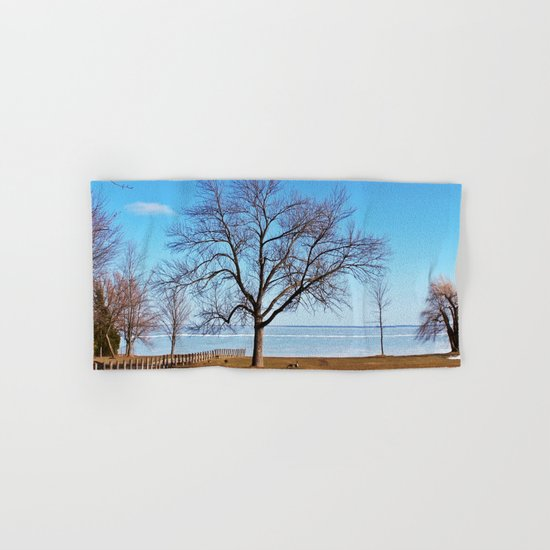The Tree by the Frozen Lake Hand & Bath Towel
