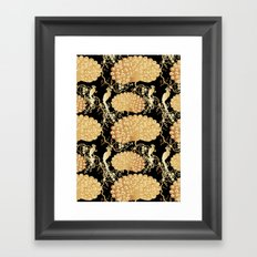golden peacock Framed Art Print