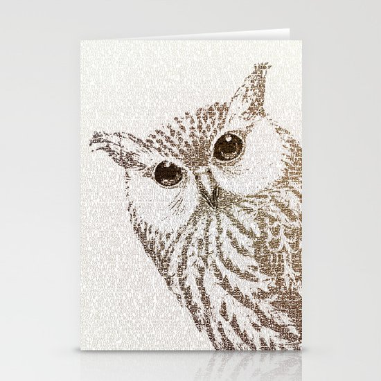 The Intellectual Owl Stationery Cards