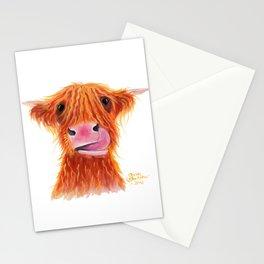 Scottish Highland Cow ' GaRLiC ' by Shirley MacArthur Stationery Cards