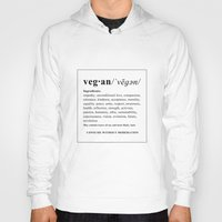vegan Hoodies featuring vegan by Cindy Lepage