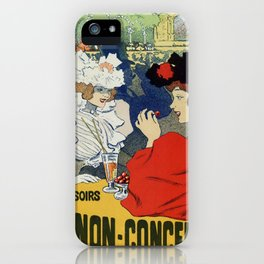 Paris garden Trianon Montmartre concert iPhone Case
