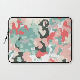 Ioro - painted abstract coral minimal mint teal bright southern charleston decor colors Laptop Sleeve