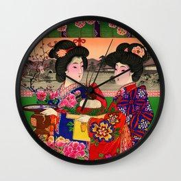 Two Geishas Wall Clock