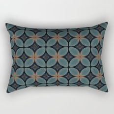 Metallic Deco Blue Rectangular Pillow