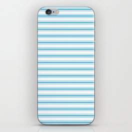 Oktoberfest Bavarian Blue and White Large Mattress Ticking Stripes iPhone Skin