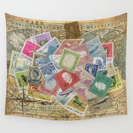World Stamps Wall Tapestry