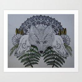 Fox & Fern Art Print