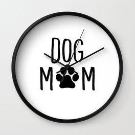 Dog Mom Paw Wall Clock