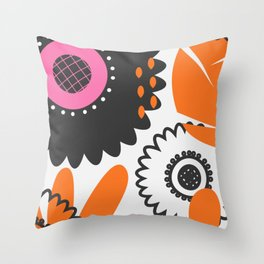 Flowers and beads Throw Pillow