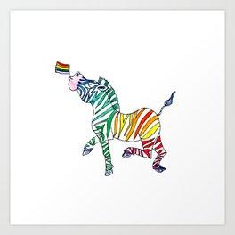 Pride Zebra Art Print