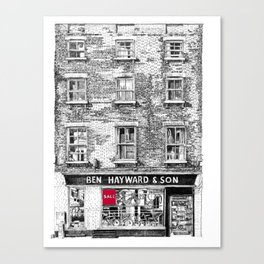 Ben Hayward & Son, Kings Parade, Cambridge, UK Canvas Print