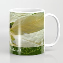Pale Yellow Poinsettia 1 Merry Christmas S6F1 Coffee Mug