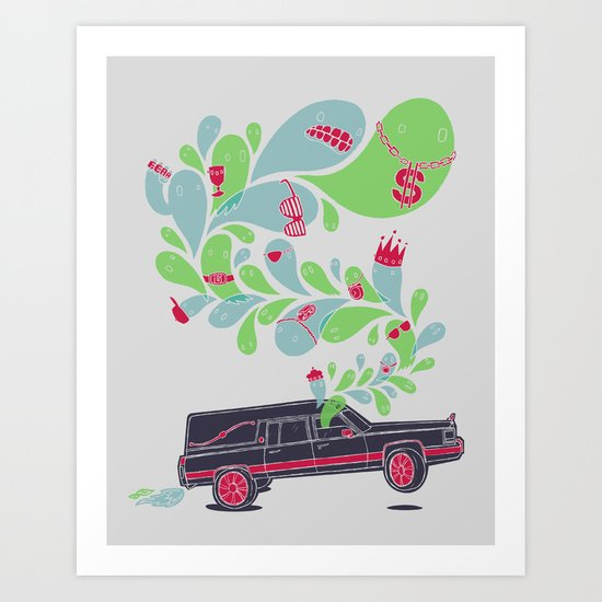 Hauntin' Dirty Art Print