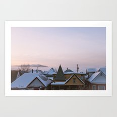 Winter In An Old Mining Town Art Print
