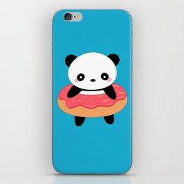 Kawaii Donut Panda iPhone Skin