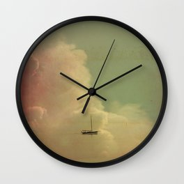 Once Upon a Time a Little Boat Wall Clock